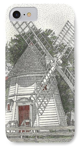 Windmill On Water Street IPhone Case by Stephany Elsworth