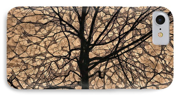 Windowpane Tree In Autumn IPhone Case