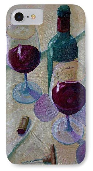 Wine Bottle Still Life  IPhone Case