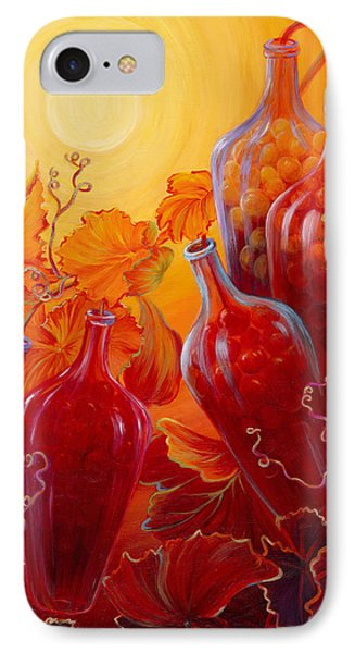 IPhone Case featuring the painting Wine On The Vine II by Sandi Whetzel