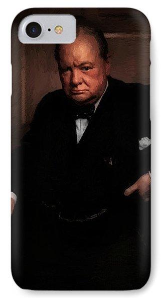 Winston Churchill IPhone Case by Doc Braham
