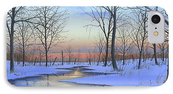 IPhone Case featuring the painting Winter Calm by Mike Brown