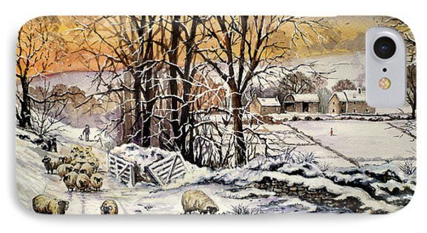 Winter In The Ribble Valley  IPhone Case by Andrew Read