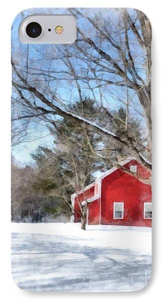 Winter In Vermont IPhone Case by Edward Fielding
