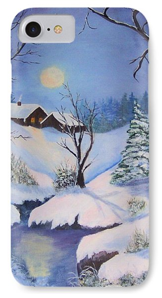 winter Moon IPhone Case by Catherine Swerediuk