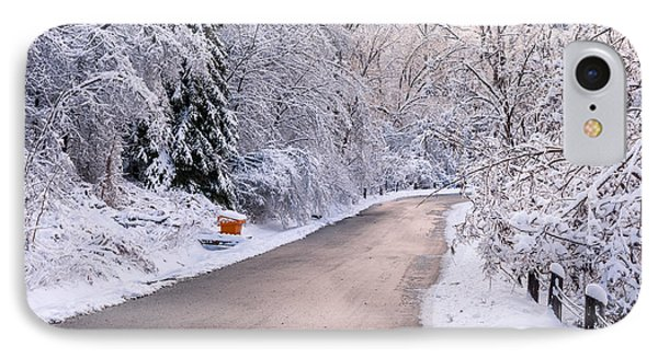 Winter Road After Snowfall IPhone Case by Elena Elisseeva