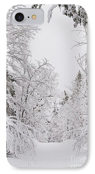 Winter Road Phone Case by Cheryl Baxter