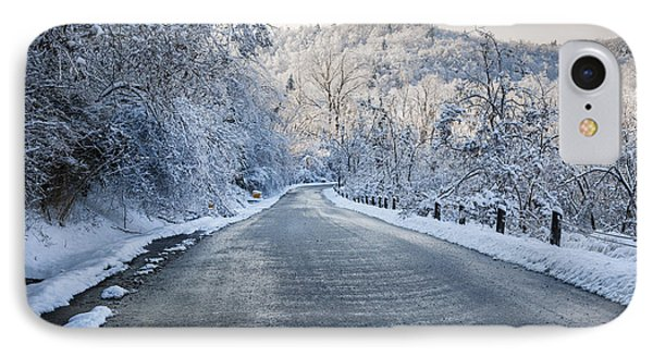 Winter Road IPhone Case by Elena Elisseeva