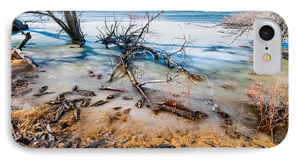 IPhone Case featuring the photograph Winter Shore At Barr Lake by Tom Potter