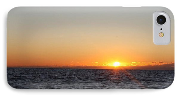Winter Sunrise Over The Ocean IPhone Case by John Telfer