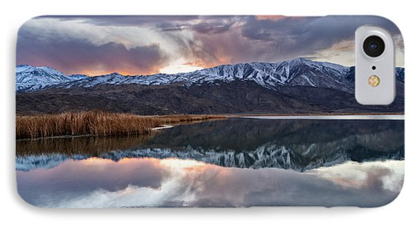 Winter Sunset Phone Case by Cat Connor
