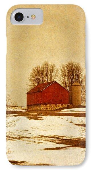 Wisconsin Barn In Winter Phone Case by Jill Battaglia