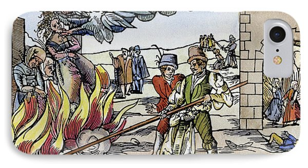Witch Burning, 1555 IPhone Case by Granger