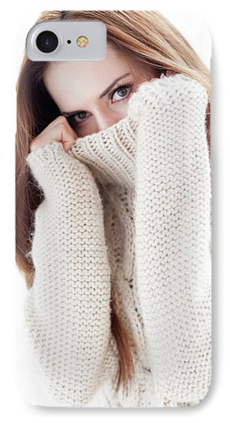 Woman Covering Face IPhone Case