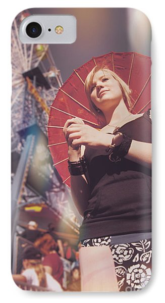 Woman Holding Parasol IPhone Case by Jorgo Photography - Wall Art Gallery