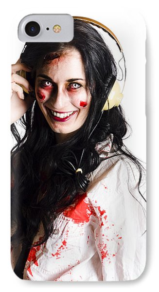 Woman Listening To Death Metal IPhone Case