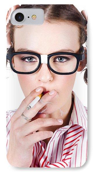 Woman Smoking Cigarette IPhone Case