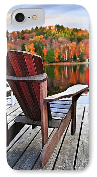 Wooden Dock On Autumn Lake IPhone Case by Elena Elisseeva