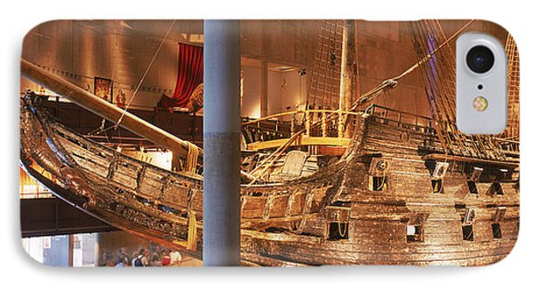 Wooden Ship Vasa In A Museum, Vasa IPhone Case by Panoramic Images