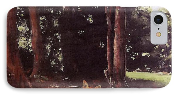 IPhone Case featuring the painting Woodland Fox by Cherise Foster