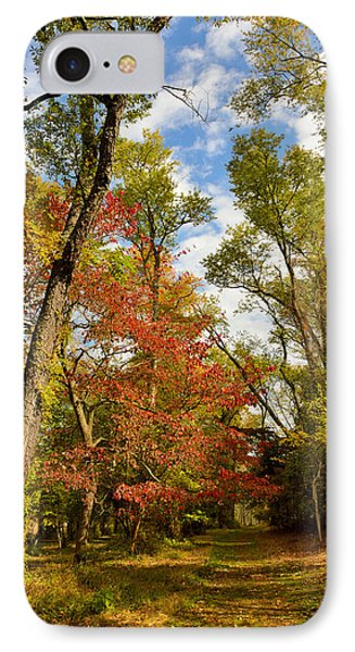 IPhone Case featuring the photograph Woodland Path In Autumn by A Gurmankin