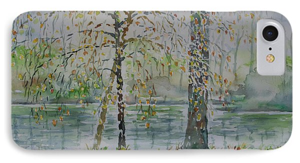 IPhone Case featuring the painting Woodmans Pond by Alfred Motzer