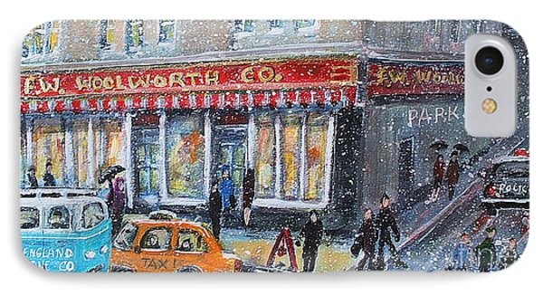 Woolworth's Holiday Shopping IPhone Case by Rita Brown