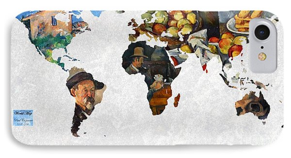 World Map Cezanne 2 IPhone Case by John Clark
