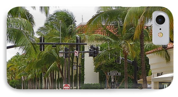 Worth Ave Palm Beach Fl Facing East IPhone Case