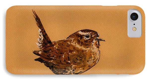 Wren Bird IPhone 7 Case by Juan  Bosco