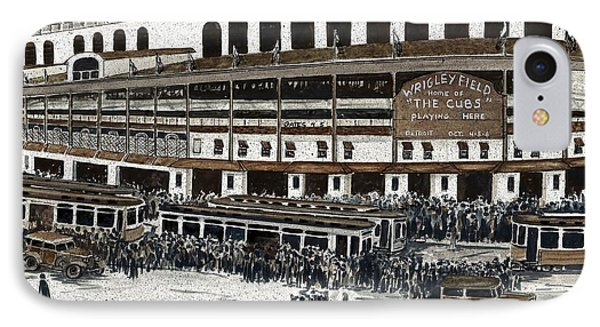 Wrigley Field IPhone Case by Steven Schultz