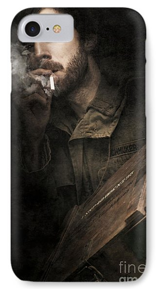 Ww2 Ground Infantry Soldier Carrying Ammunition IPhone Case by Jorgo Photography - Wall Art Gallery