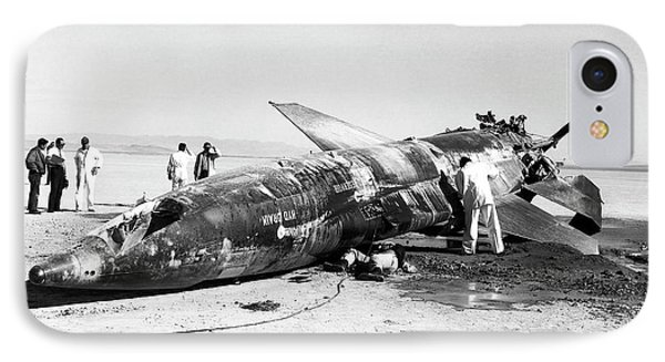 X-15 Aircraft Crash Site IPhone Case by Nasa