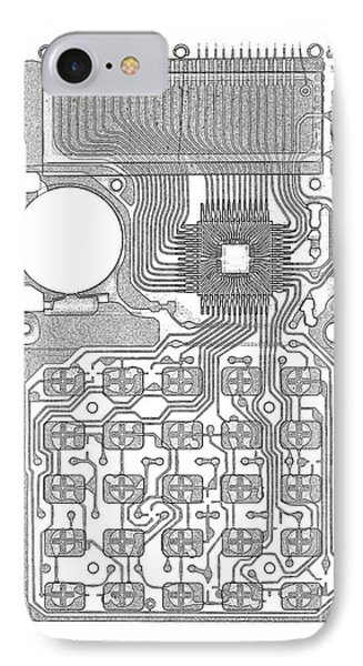 X-ray Of Calculator Phone Case by Bert Myers
