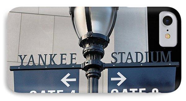 Yankee Stadium Sign Post IPhone Case by Aurelio Zucco