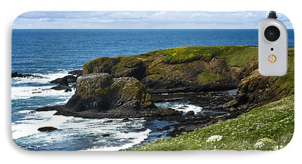 Yaquina Head Lighthouse IPhone Case by Carrie Cranwill