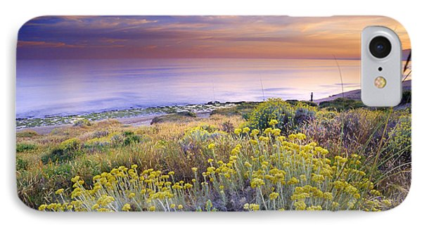 Yellow Flowers At The Sea Phone Case by Guido Montanes Castillo