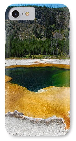 Yellowstone Emerald Pool IPhone Case by Debra Thompson