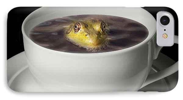 Yikes There Is A Frog In My Java Phone Case by Randall Nyhof