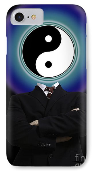 Yin Yang In A Man IPhone Case by Monica Schroeder
