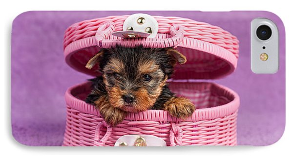 Yorkshire Terrier Puppy Phone Case by Marta Holka