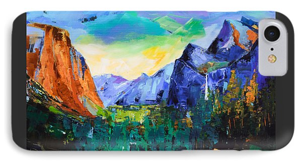 Yosemite Valley - Tunnel View IPhone Case by Elise Palmigiani