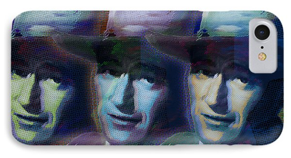 Young John Wayne Pop Repeat IPhone Case by Tony Rubino
