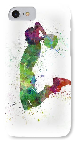 Young Man Basketball Player Dunking IPhone Case by Pablo Romero