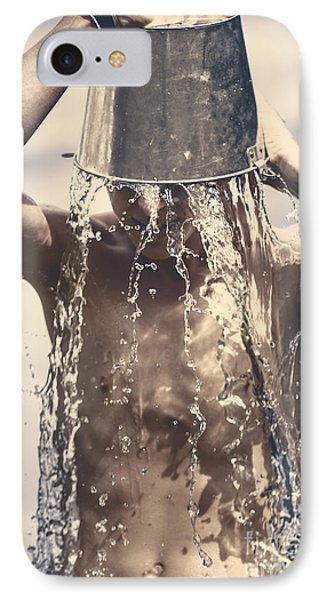 Young Man Having Fun On A Tropical Summer Holiday Phone Case by Jorgo Photography - Wall Art Gallery