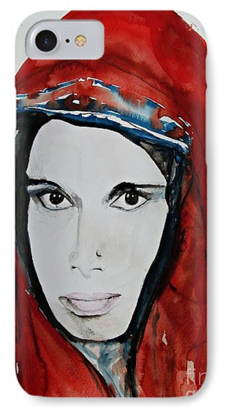 Young Woman From India - Painting Phone Case by Ismeta Gruenwald