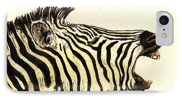 Zebra Head Study Phone Case by Juan  Bosco