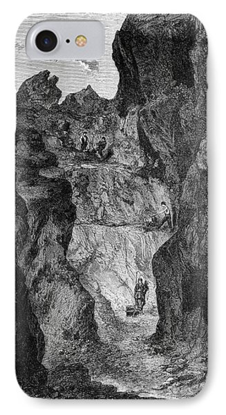 Zinc Mine IPhone Case by Science Photo Library