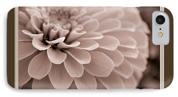 Zinnia Close-up IPhone Case by Charles Feagans