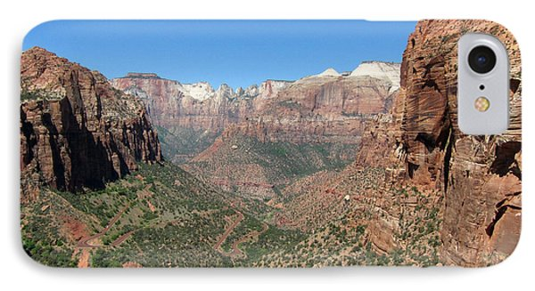 Zion Canyon Overlook IPhone Case by Debra Thompson